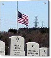 Dallas Fort Worth Memorial Cemetery Acrylic Print