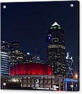 Dallas Skyline Arts District At Night Acrylic Print