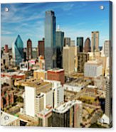 Dallas Skyline As Seen From Reunion Acrylic Print