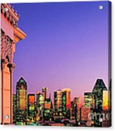 Dallas Skyline At Dusk Acrylic Print