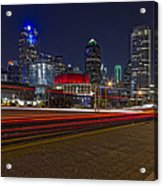 Dallas Skyline At Night Acrylic Print