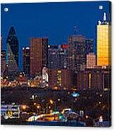 Dallas Skyline Panorama Acrylic Print