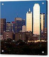 Dallas Skyline Sunset Acrylic Print