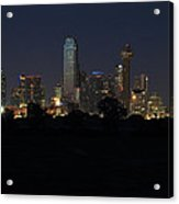 Dallas Skyline Twilight Acrylic Print