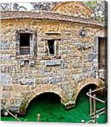 Dalmatian Village Traditional Stone Watermill Acrylic Print