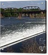 Dam And Rail Runs Acrylic Print