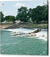 Dam At Batesville Arkansas Acrylic Print by Douglas Barnett