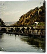 Dam On Adda River Acrylic Print