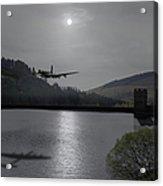 Dambusters Lancaster At The Derwent Dam At Night Acrylic Print