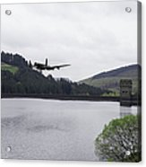 Dambusters Lancaster At The Derwent Dam Acrylic Print