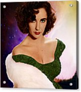 Dame Elizabeth Rosemond 'liz' Taylor - Featured In 'comfortable Art' Group Acrylic Print