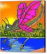 Dameon The Dragonfly  Acrylic Print