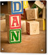 Dan - Alphabet Blocks Acrylic Print