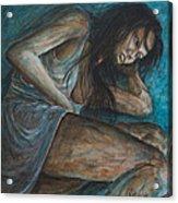 Danae Painting After Klimt Acrylic Print