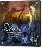 Dance Bright Colors Acrylic Print by Evie Cook