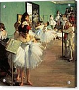Dance Examination Acrylic Print by Edgar Degas
