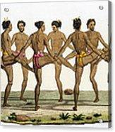 Dance Of The Caroline Islanders, Plate Acrylic Print