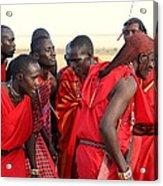Dance Of The Maasai Acrylic Print