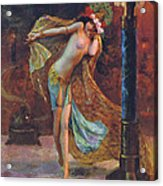 Dance Of The Veils Acrylic Print by Gaston Bussiere