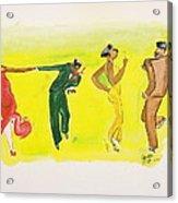 Dance Series 5 Of 8 Lindy Hop-swing Acrylic Print