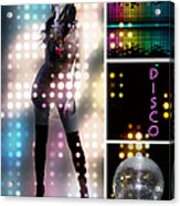 Dance Series - Disco Acrylic Print by Linda Lees