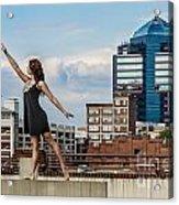 Dance The Durham Skyline Acrylic Print by Jh Photos