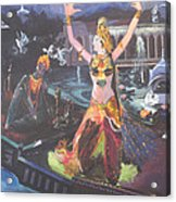 Dancer Laxmi Dancing On The Boat Acrylic Print
