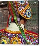 Dancer In Native Costume Peru Acrylic Print