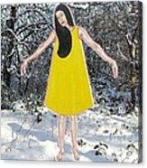 Dancer In The Snow Acrylic Print