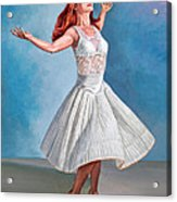 Dancer In White Acrylic Print