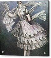 Dancer Maria Taglioni In The Ballet Le Acrylic Print