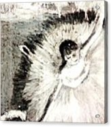 Dancer With A Bouquest Of Flowers By Edgard Degas Acrylic Print