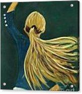 Dancer With Hair Acrylic Print