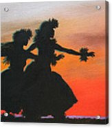 Dancers At Sunset Acrylic Print
