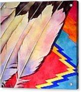 Dancer's Feathers Acrylic Print
