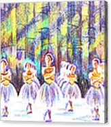Dancers In The Forest Acrylic Print