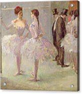 Dancers In The Wings At The Opera Acrylic Print by Jean Louis Forain