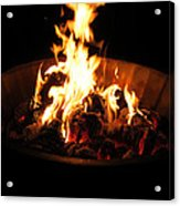 Dancing Amber Fire In Pit Acrylic Print