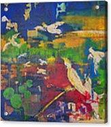 Dancing Cockatoos Acrylic Print