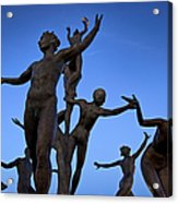 Dancing Figures Acrylic Print by Brian Jannsen