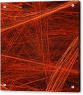 Dancing Flames 1 H - Panorama - Abstract - Fractal Art Acrylic Print