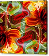 Dancing Flowers Acrylic Print by Omaste Witkowski