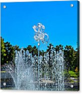 Dancing Fountain Acrylic Print