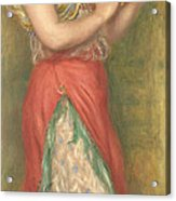 Dancing Girl With Tambourine Acrylic Print