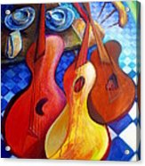 Dancing Guitars Acrylic Print