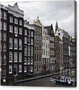 Dancing Houses Damrak Canal Amsterdam Acrylic Print