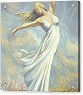 Dancing In Monet's Field Acrylic Print by Lucie Bilodeau