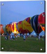 Dancing In The Moonlight Hot Air Balloons Acrylic Print