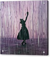 Dancing In The Rain Acrylic Print