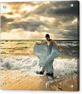 Dancing In The Surf Acrylic Print